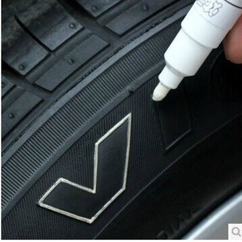 1 PC Car Tire Tread Marker Pen Black White Silver Waterproof Permanent Paint Marker CD Metallic Oil Drop Ship CHIZIYO