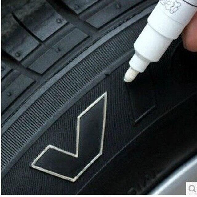 1 PC รถยาง MARKER ปากกาสีดำสีขาวเงินกันน้ำถาวร MARKER CD METALLIC น้ำมันเรือ CHIZIYO