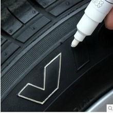 1 шт. маркер для протектора автомобильных шин черная белая Серебряная Водонепроницаемая фотография с металлическим маслом