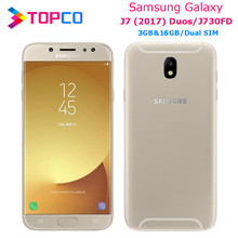 "Samsung Galaxy J7 (2017) Duos Original Android Mobile Phone J730FD 4G LTE 5.5"" Octa core Dual SIM 13MP&13MP RAM 3GB ROM 16GB(China)"