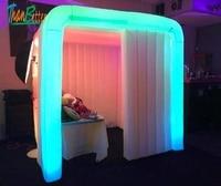 Multi Цвета изменение пользовательских LED надувные кабины Портативный photo booth воздуха стенда для photo booth Свадебная вечеринка события для продаж