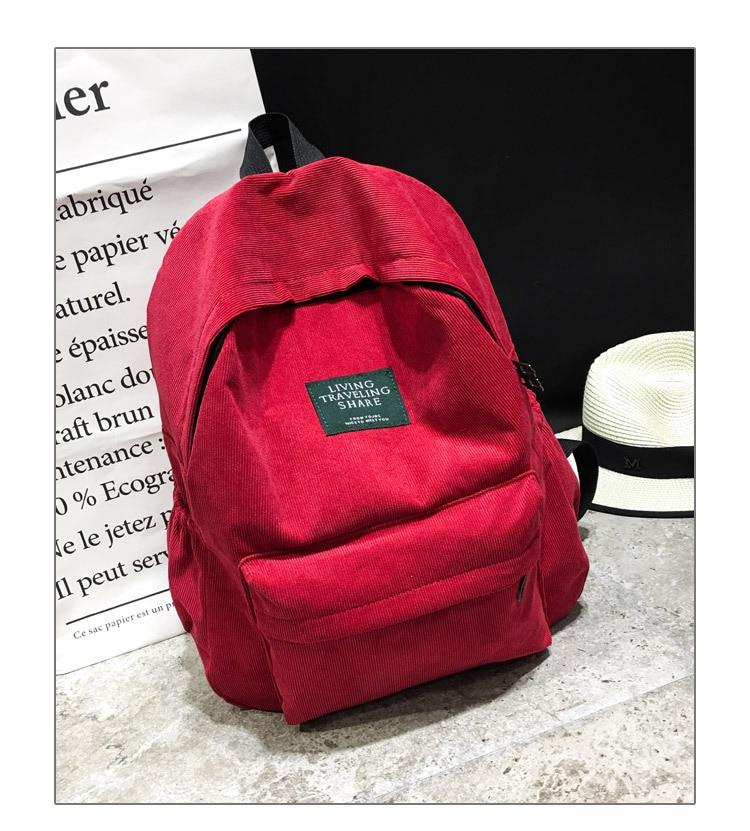HTB1hAyPKf9TBuNjy0Fcq6zeiFXa6 Women Striped Corduroy Backpack Female Eco Simple Cloth Bag Large Capacity Vintage Travel Bags School Backpack for Teenage Girls