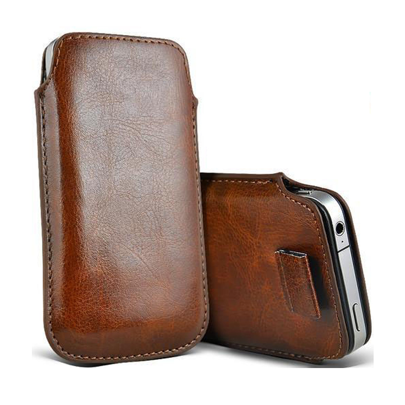 Leather Pouch Coque For iPhone 5 5S SE 5C Case Pocket Rope Holster Pull Tab Pouch Cover For iPhone 6 6S 7 Plus Phone Bag Case capa gucci iphone x
