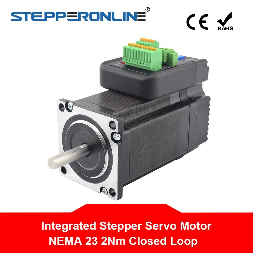 Nema 23 Hybrid Closed Loop Integrated Stepper Servo Motor 2Nm with Driver 24 50VDC Encoder Servo