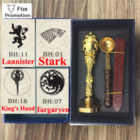 Hot Game Of Thrones Wax Seal Stamp Wax Spoon Gift Box Scrapbooking DIY Ancient Seal