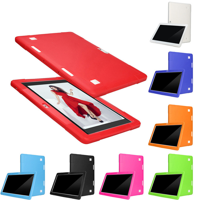 Universal Silicone Cover Case For 10 10.1 Inch Android Tablet PC protective case A30 2 in 1 protective pc silicone back case for iphone 5c grey orange