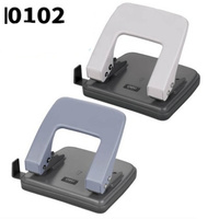 DELI 0102 Hole Punch Double Hole Craft Paper Punch Scrapbook Punches Circle Cutter Office Supplies