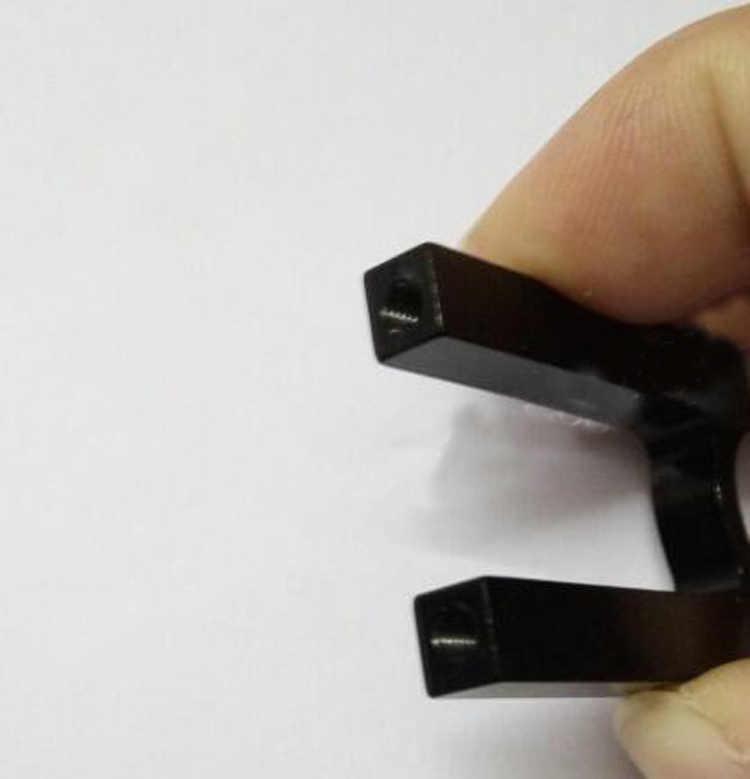 2PCS 12mm Rohr Klemme Aluminium Legierung Rohr Motor Mount Leuchte Clip Halter für Carbon Faser RC Modell Flugzeug