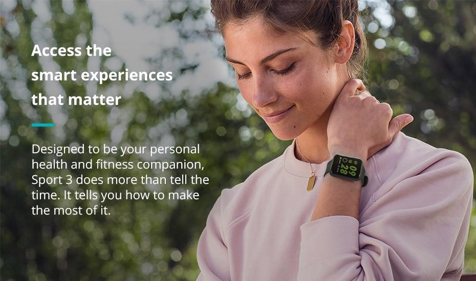 COLMI Sport 3 Smart Fitness Bracelet Activity Tracker ip68 Waterproof Smart Band Blood Pressure Measurement Wristband for men 1