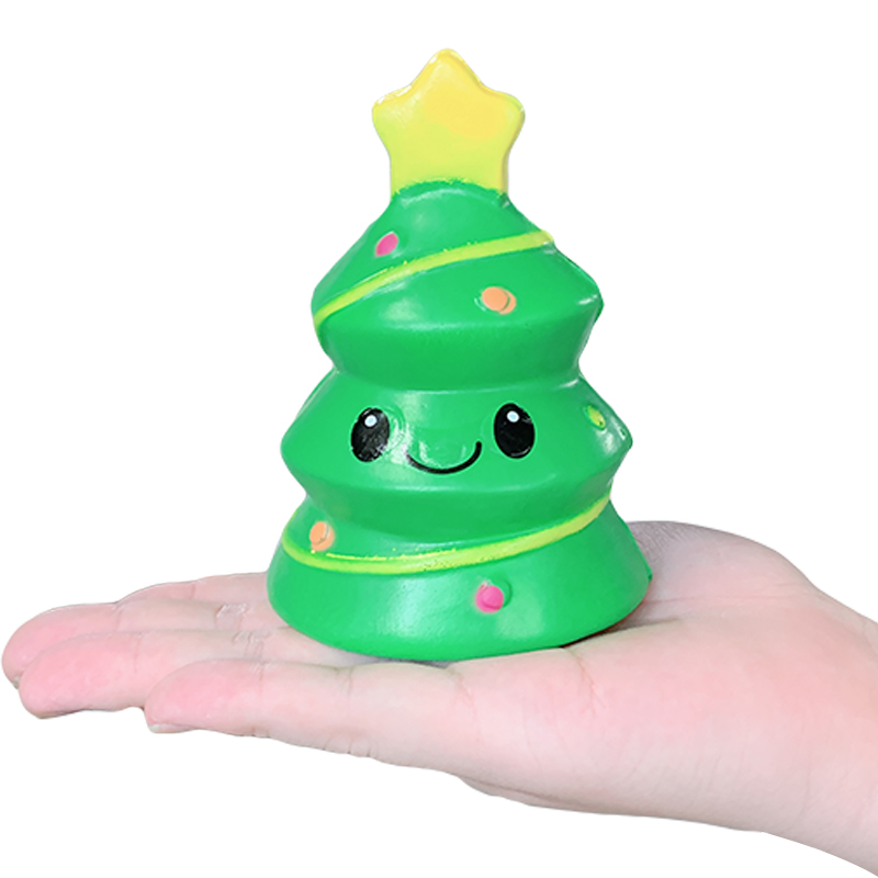 Jumbo Christmas Tree Squishy Slow Rising Simulation Bread Sweet Scented Anti Stress Soft Squeeze Toy For Kid Fun Xmas Gift Toy