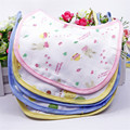 Wholesale Hot Baby Products 6 Layers Gauze Baby Bibs Infant Saliva Towels Soft Cotton Tied Bib Round Corner Cute Bib Burp Cloths