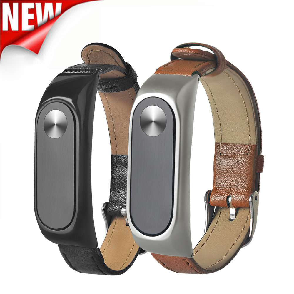 New Business Lightweight Leather Smart Wrist Watch Strap For Xiaomi Miband 2  relogio feminino erkek kol saati mens watches skme luxury fashion canvas mens analog watch wrist watches relogio feminino erkek kol saati mens watches skmei saat relojes hombre vi