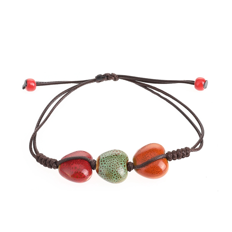 Fashion Return To The Ancients Handmade Ceramic Beads Charm Gift Women's Bracelet Fashion Jewelry Free Shipping