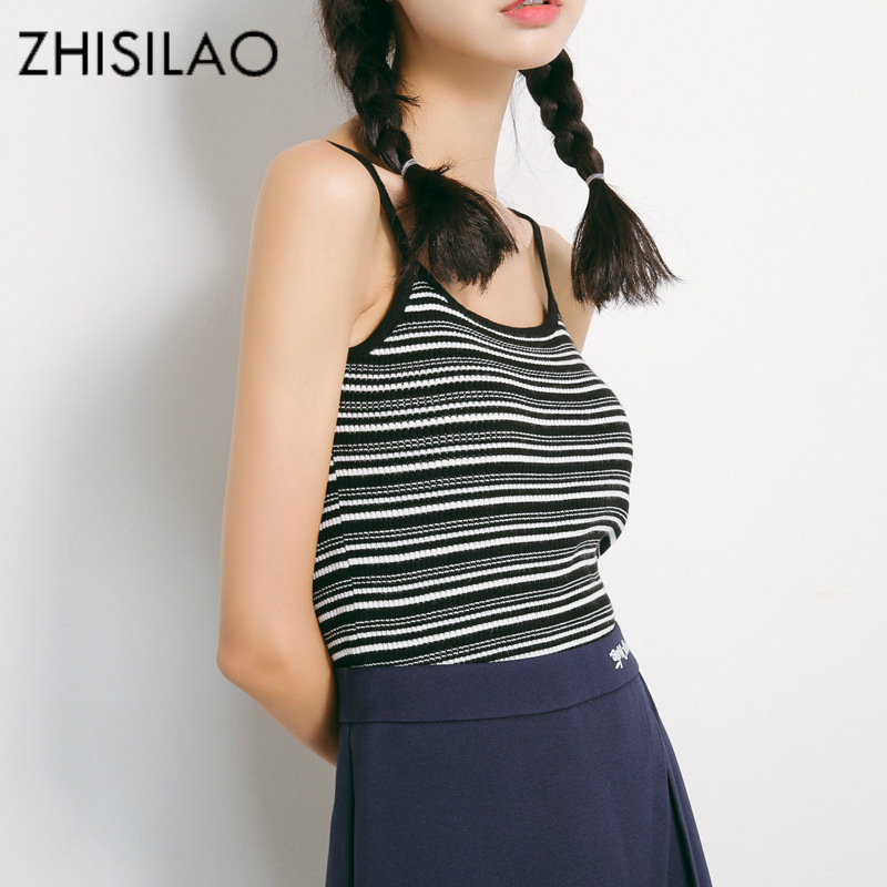 ZHISILAO Summer Vest Crop Top Knitted Tank Top Woman Vest Knitted Beach Vest Sexy Sleeveless Vintage Woman Tops