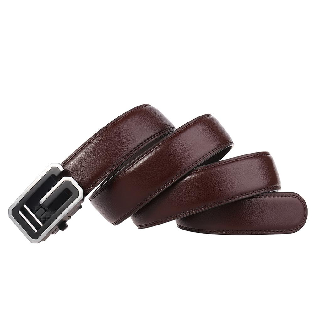 Formal Men Belts Male Genuine Leather Strap Belts For Men Quality Automatic Buckle Black Belts Cummerbunds Cinturon Hombre in Men 39 s Belts from Apparel Accessories