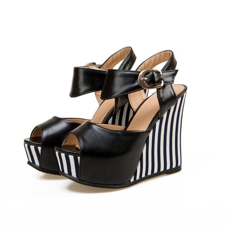 Diskret 2017 Sonderangebot Neue Sapato Feminino Alias Mujer Big Size 34-43 Sandalen Damen Lady Schuhe High Heel Frauen Pumpen T8741 Weich Und Rutschhemmend Frauen Schuhe Schuhe