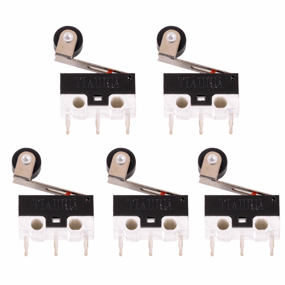 New 5pcs Mini Micro Switch Roller Lever Actuator Microswitch SPDT Sub Miniature Accessories 5 pcs micro switch d2fc f 7n 10m for mouse replacement substitute tested