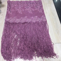New Design French Lace Fabric With Stones PURPLE African Lace Fabric High Quality 2018 Net Lace Nigerian Material Dress