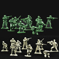50pcs/lot Military Toy Children World War II Soldier Kit Soldiers Army Men Figures & Accessories Playset 8 Styles Sent At Random
