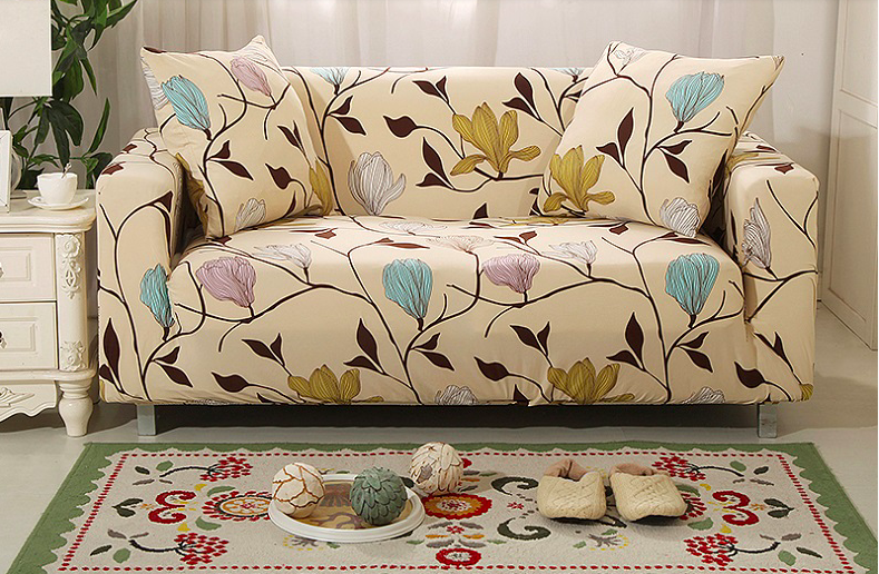 Us 25 64 5 Off Spandex Stretch Flower Pattern Sofa Cover Elasticity 100 Polyester Furniture In From Home Garden On