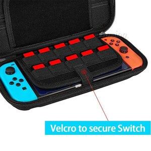Image 4 - 9 w 1 pancerne etui dla przełącznik do nintendo do przechowywania torba do przenoszenia przenośny do Nintendoswitch Switch NS konsola do gier akcesoria