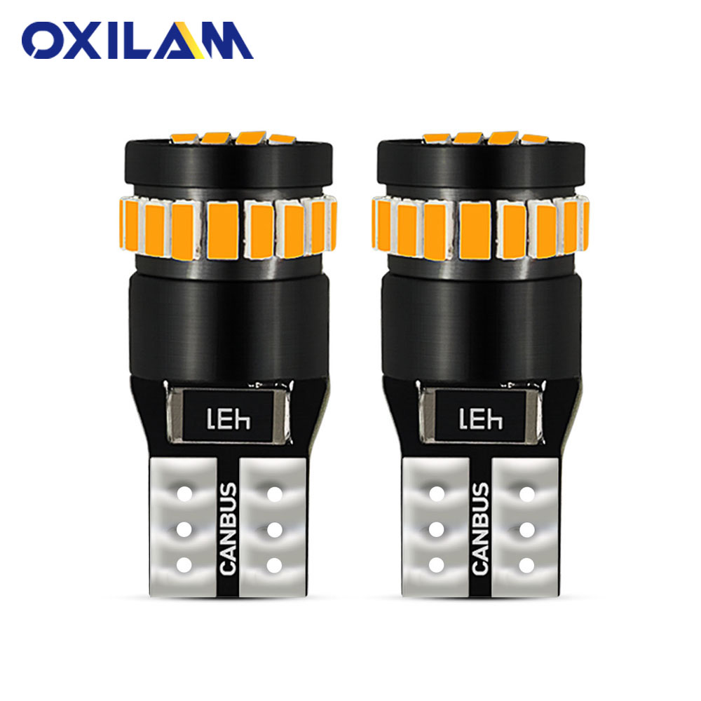 2x No Error T10 <font><b>LED</b></font> W5W 194 168 Interior <font><b>Light</b></font> Bulb for BMW E60 E90 <font><b>Peugeot</b></font> <font><b>307</b></font> Mini Cooper R56 Seat leon 2 Reading Trunk Lamp image