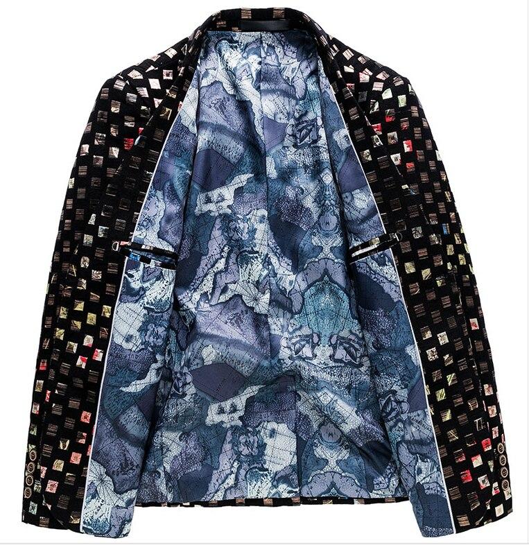 LONMMY 5XL 6XL Men sequin blazer jackets Punk style flower Slim fit Wedding dress men blazer designs suit men 2018 Autumn Spring-in Blazers from Men's Clothing    2