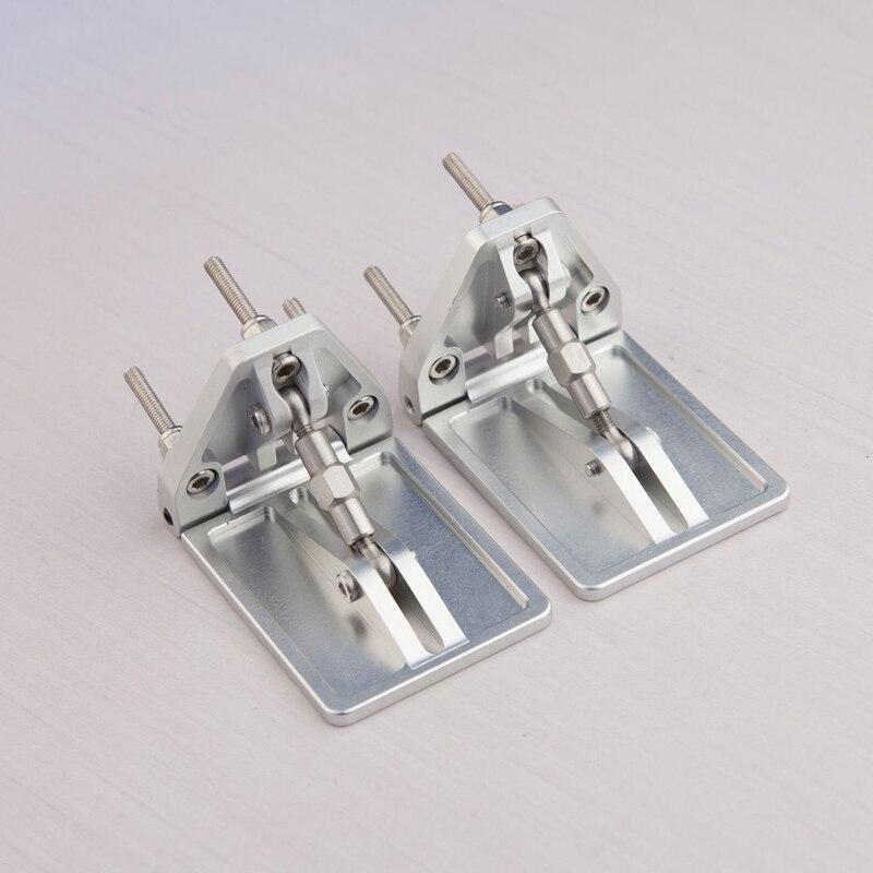 1 Paire DIY RC Modèle Bateau Accessoires Simulation Pression Plaque CNC En Alliage D'aluminium Réglable Pression Conseil L55mm * W38mm * H35mm