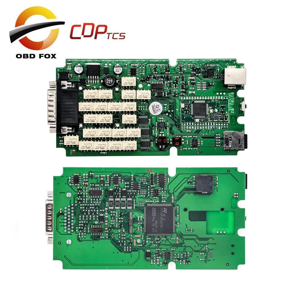 Цена за Один Зеленый PCB cdp tcs pro plus многоязычная cdp супер pro нет bluetooth для автомобилей грузовых obd2 диагностический инструмент Бесплатно доставка