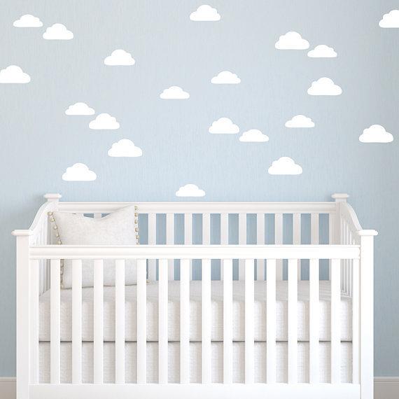 free ship 24pcs Clouds shape child Nursery decor wall sticker,S1