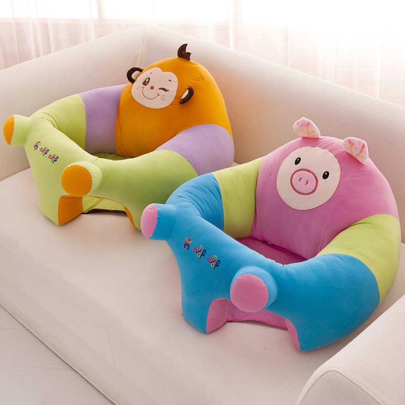 椅子クッションソファキッズ子供ベビーポータブル犬豚猿クマ漫画の王冠シートゲームぬいぐるみカバーのみなし充填