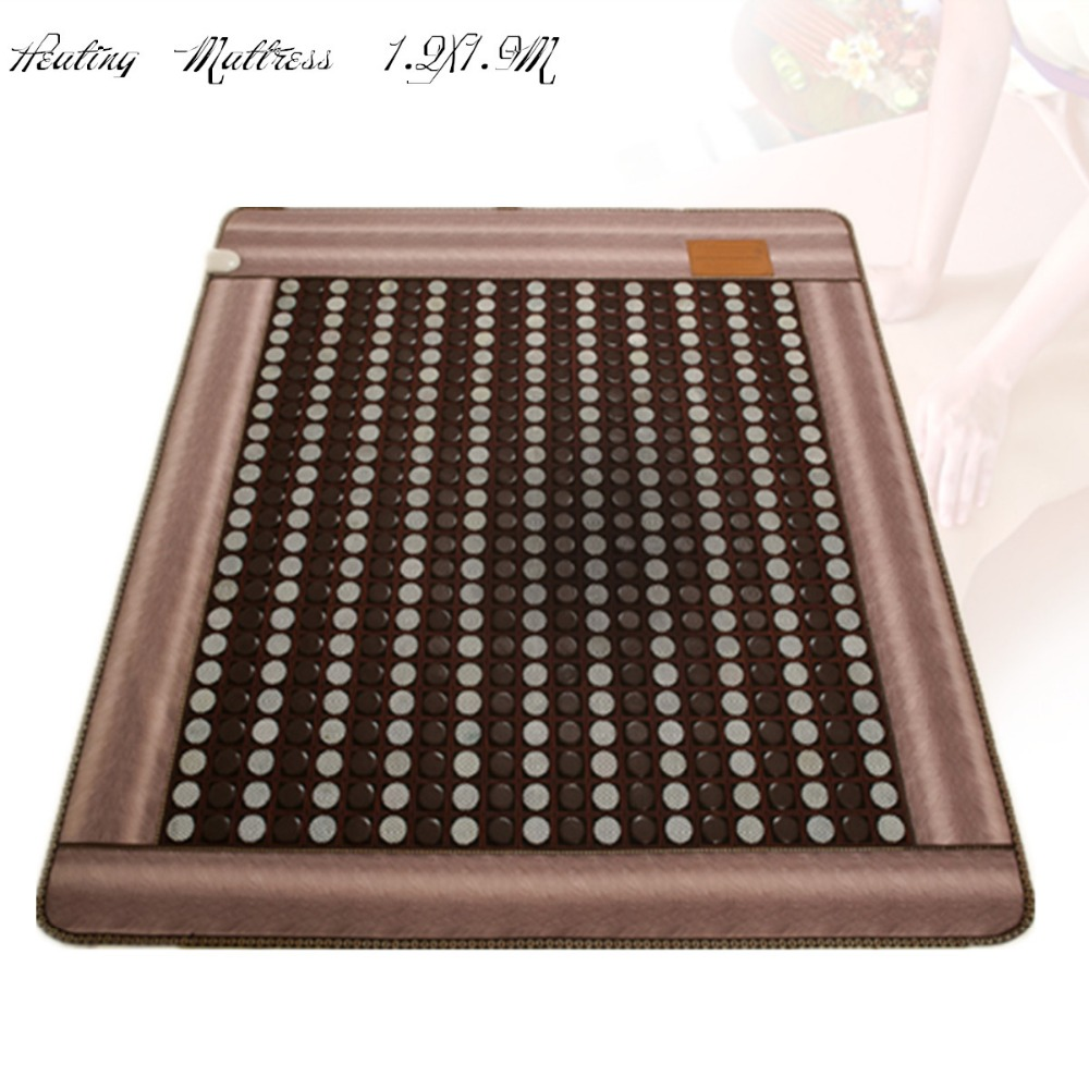 2018 Best Selling Korea Natural Jade heated mattressTourmaline Germanium Electric Heating Physical Therapy sleeping Mat 1.2X1.9M 2017 best selling korea natural jade heated mattress pad tourmaline germanium electric heating physical therapy mat 1 2x1 9m