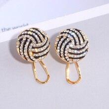 Трендовые круглые серьги-гвоздики золотого цвета для женщин, очаровательные блестящие круглые серьги с кристаллами, свадебные ювелирные изделия, подарок WX238