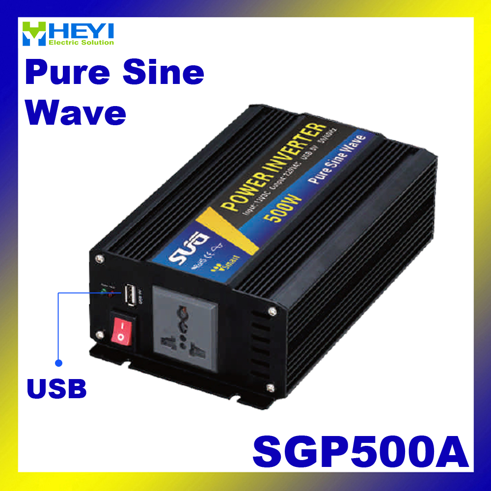 цена на New type Smart Series Pure Sine Wave Inverter 500W with USB input 12VDC 24VDC 48VDC output 110VAC 220VAC solar power inverters