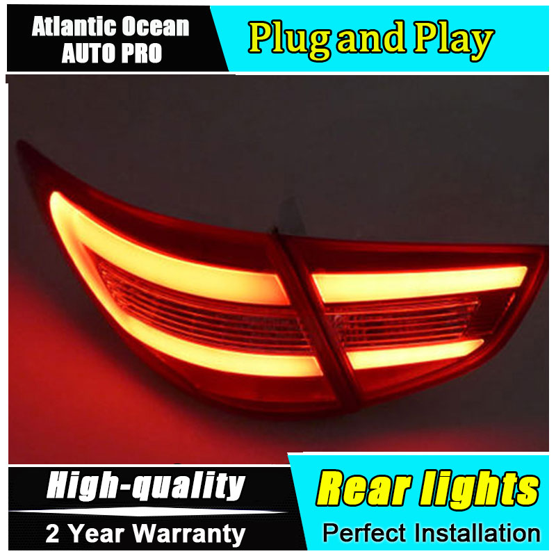 JGRT Car Styling Accessories for Hyundai IX35 Tuscon LED Taillights 2010-2013 IX35 Tail Lamp Rear Lamp DRL+Brake+Park+Signal led jgrt car styling for vw tiguan taillights 2010 2012 tiguan led tail lamp rear lamp led fog light for 1pair 4pcs