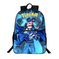 17fa0ed25ab Anime Pokemon Backpack Boys Girls School Bags Children Pikachu Backpack For  Teenagers Kids Gift Backpacks Schoolbags