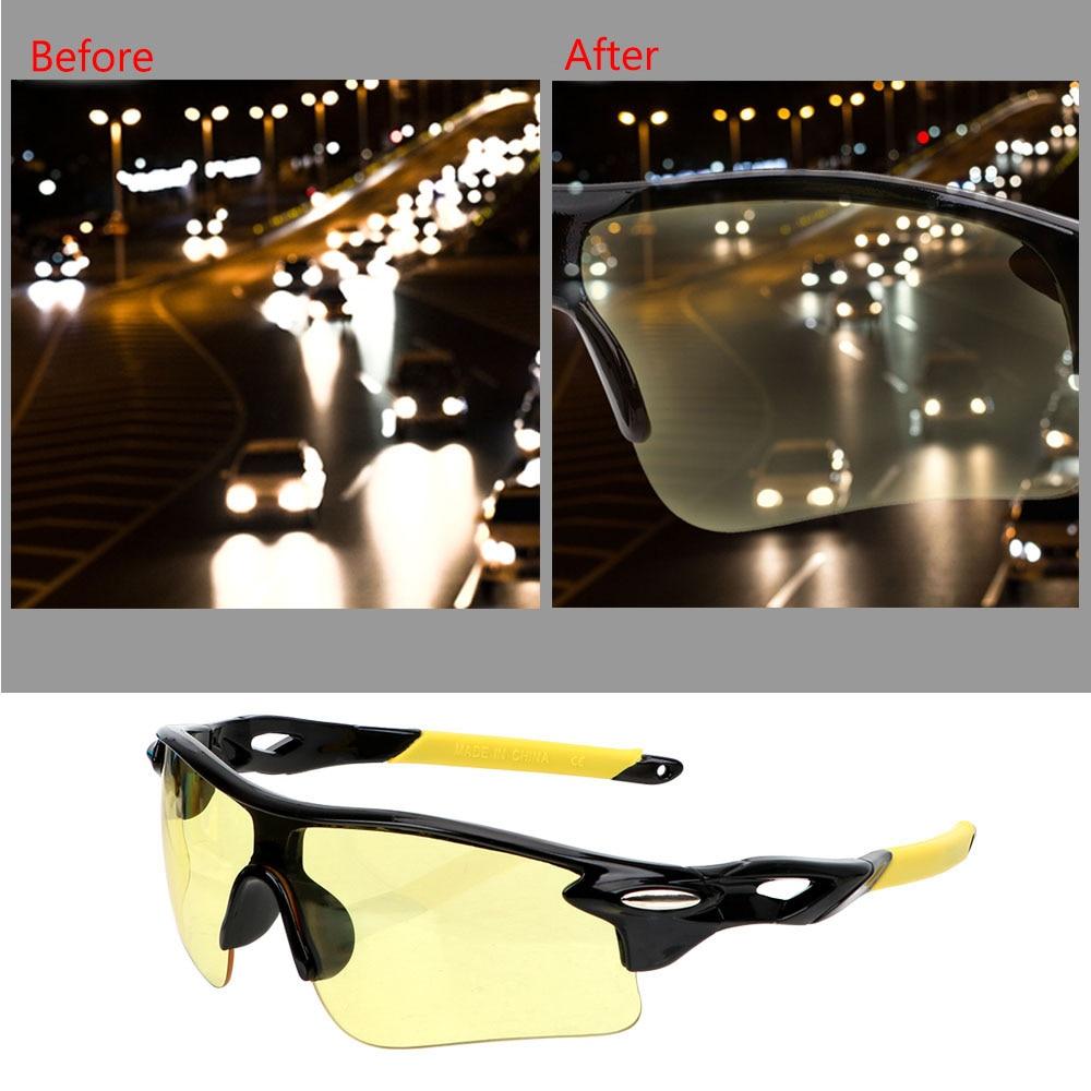 Anti Glare Motocross Sunglasses Car Night-Vision Glasses Explosion-proof UV Protection Night Vision Drivers Goggles