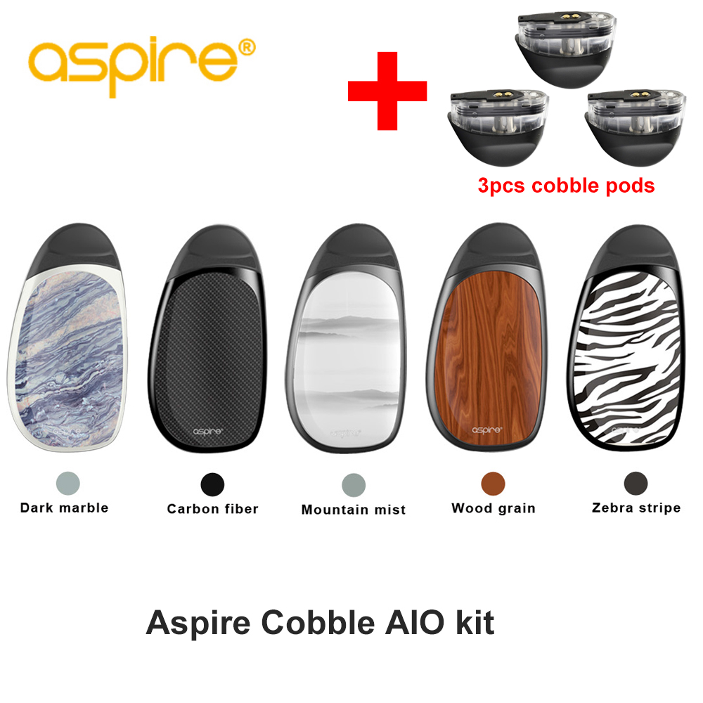 D'origine Aspire galets kit avec 3 gousses aspire aio vaporisateur pod système kit avec 700 batterie mah 1.8 ml capacité cartouche vs suorin air
