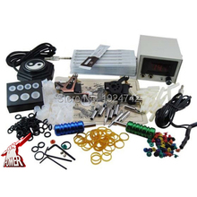 tattoo complete tattoo kit power supply+foot pedal+2 alloy grips+accessories coil tattoo machine needle tip PTK-913-C3