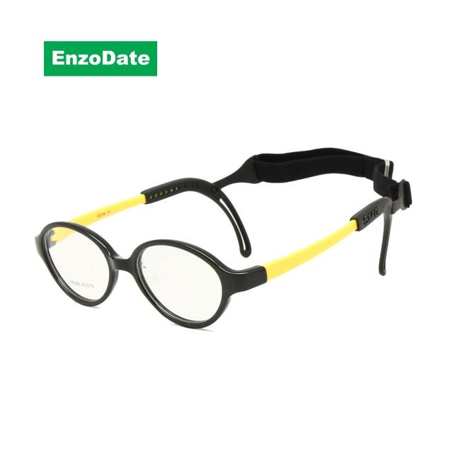 20de45444fcbf Crianças Óculos de Armação Tamanho 43 Apertos de Ouvido Banda de Cabeça  Cinta Pad Nariz de