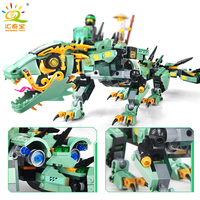 592PCS Movie Series Flying Mecha Dragon Building Blocks Compatible Legoed Ninjagoes Figures Enlighten Bricks Toys For