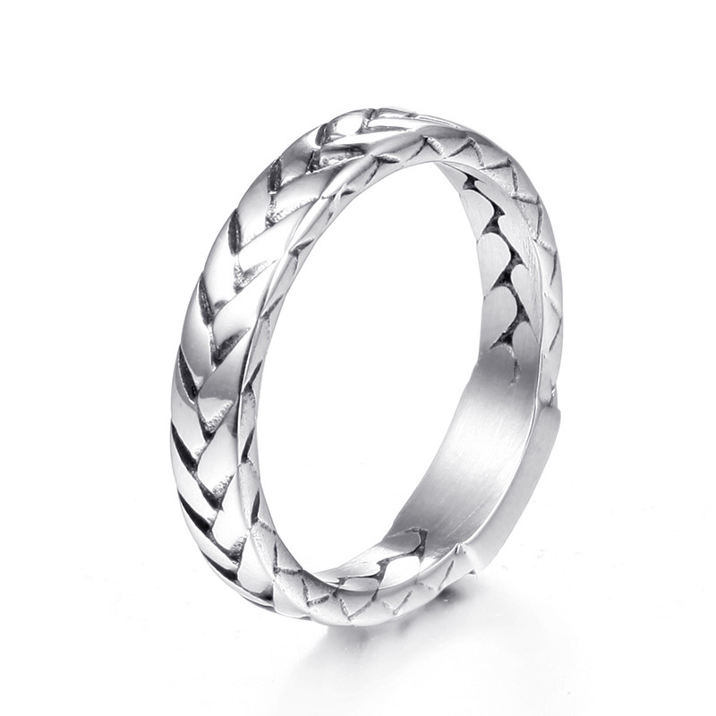 Masculine//Femme Strong Silver Titanium Inner Chain Ring Size 6//7//8//9//10//11//12