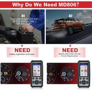 Image 5 - Autel MD806PRO Car Diagnostic Diagnostic AutoTool OBD2 Scanner Full System Code Reader better than LaunchX431 Autel MD805/MD802