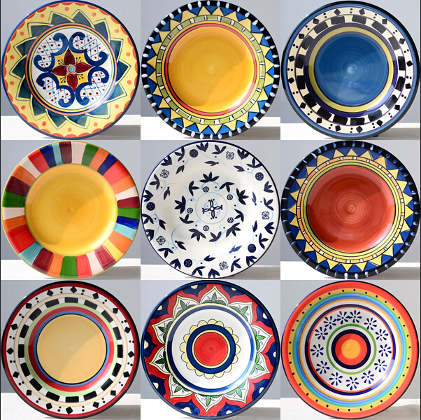 Tableware hand painting plate 8.5 inch western dish decoration plate hanging plate disk  sc 1 st  AliExpress.com : decoration of plates - Pezcame.Com
