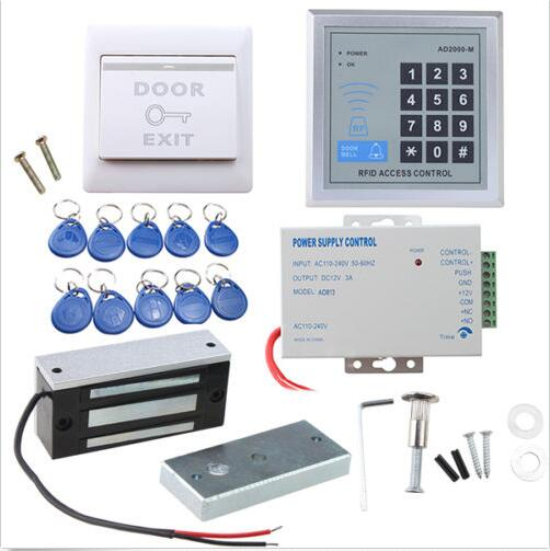 ФОТО 130 LBs Kit Electric Door Lock RFID Access Control kit ID Card Password System