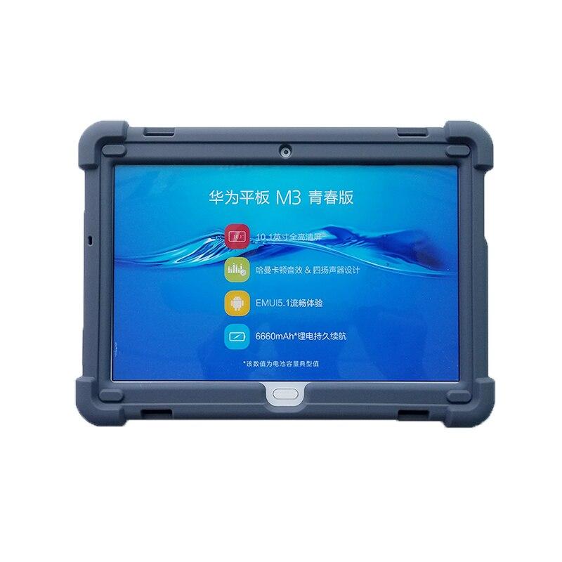 MingShore Rugged Case For Huawei M3 Lite 10.0 2017 BAH-AL00 Silicone Cover  For Huawei MediaPad M3 Lite 10.1 BAH-W09 Tablet Case mingshore silicone case for huawei t2 tablet 2 al00 al01 8 0 rugged cover for huawei mediapad t2 pro 8 0 jdn w09 tablet case
