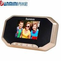 DANMINI 3 0 Inch LED Digital Door Camera Video Peephole Viewer Cat Eye Doorbell Camera Zoom