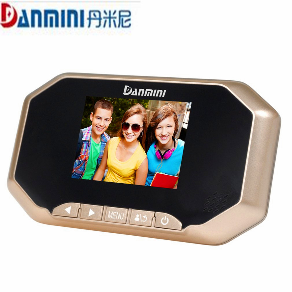 DANMINI 3.0 inch LED Digital Door Camera Video Peephole Viewer Cat Eye Doorbell Camera Zoom Video Eye Recorder With Night vision danmini 3 0 hd lcd viewer digital peephole viewer camera 2 0mp professional color screen video eye video recorder night vision