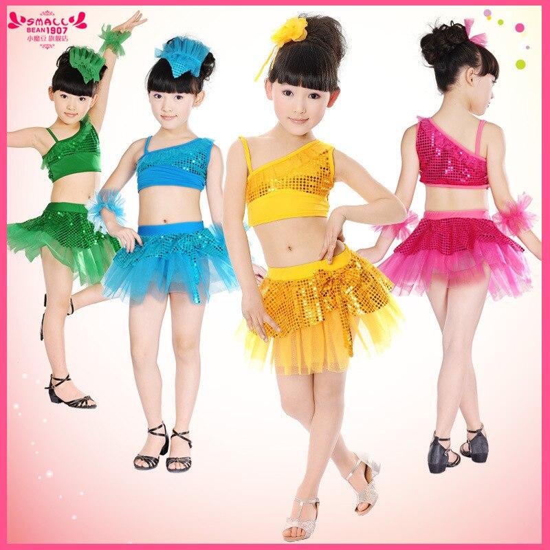2015 Новые детские блесток Пряжа сцены Samba Танго Костюмы для бальных танцев танцевальный костюм для детей Костюмы для латиноамериканских танцев платье для танцев для Обувь для девочек ld083