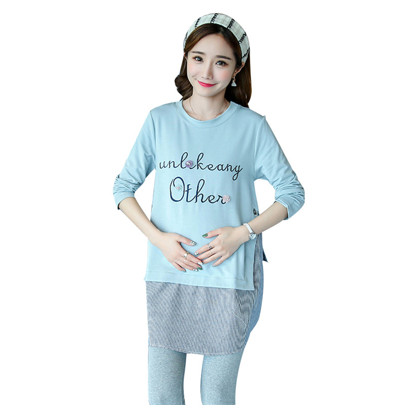 625c8368928a9 Pregnant Women Clothes Long-sleeved T-shirt Loose Cotton Korean Version  Fashion Shirt Maternity Wear Dress for Maternity Women